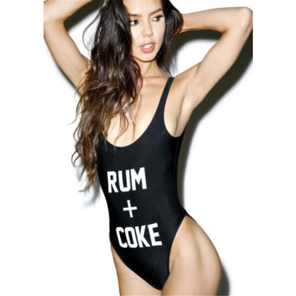 Rum and coke one piece bikini monokini swimsuit (1462489776171)