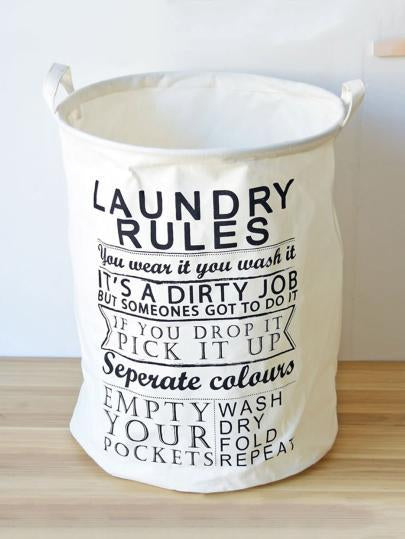 Fun text Laundry organizer basket hamper bin (1462473850923)
