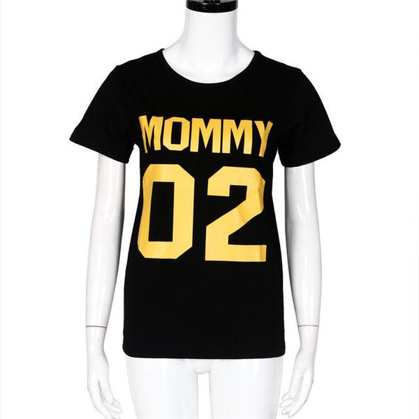 Daddy mommy kid baby Family matching Tshirts