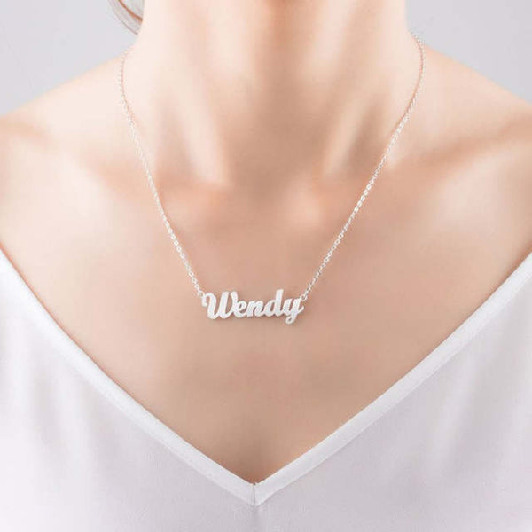 Detail 18 K plated personalized custom name pendant necklace (4358709477459)