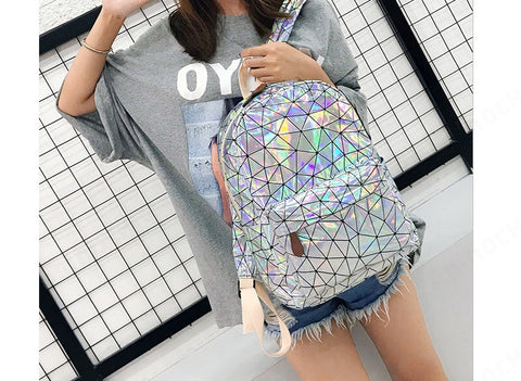 Trendy Reflective 3d backpack bag (1842462785579)