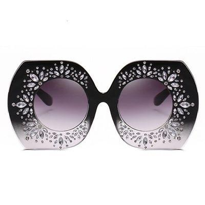 """On the charts"" rhinestone bling oversize sunglasses (1462507962411)"