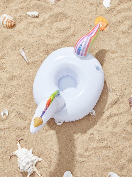Unicorn inflatable pool beach cup coaster drink holder (1462460514347)