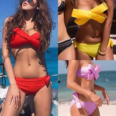 """Prize"" bow detail 2 piece bikini swimsuit (1462495019051)"