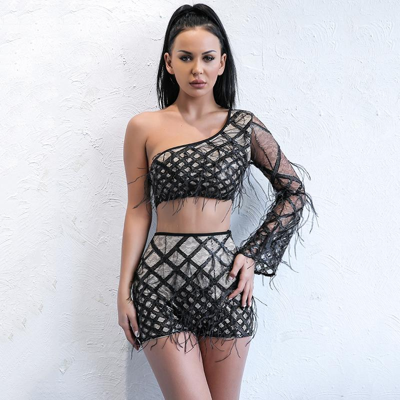 Caged fringe couture 2 piece set (1462508683307)