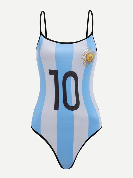 Ladies Argentina World Cup soccer bodysuit (1462463430699)