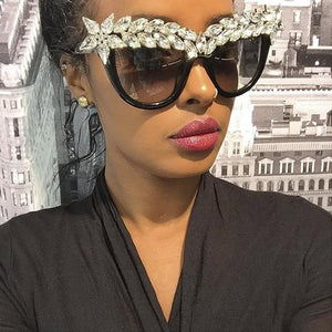 Iconic eyewear- rhinestone bling cat eye sunglasses (1462527295531)