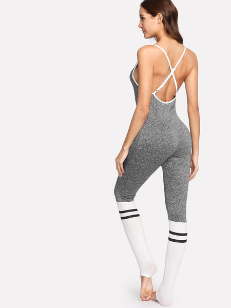 Comfy cross back bodycon jumpsuit (1462511370283)