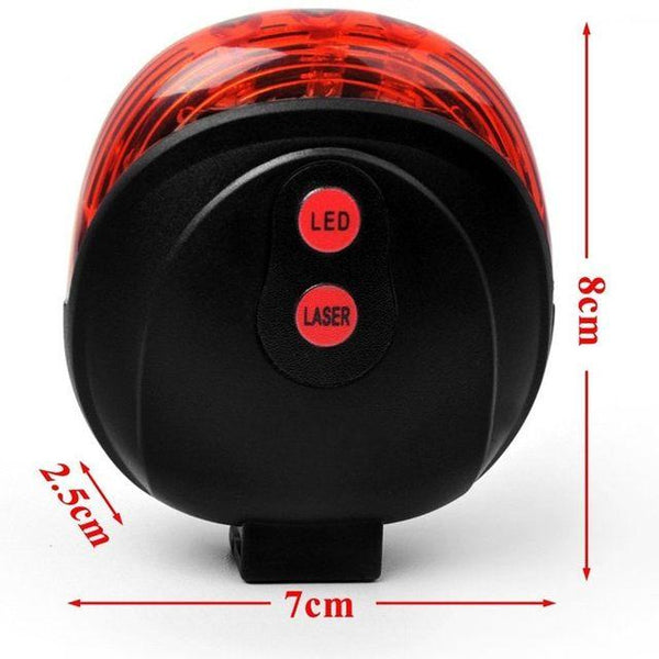 Laser beam led 2 mode bicycle led tail rear  light travel camping bike light (1462467559467)