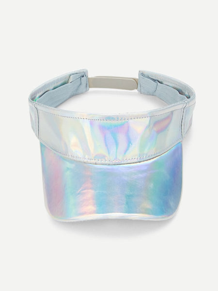 Iridescent metallic sun fashion visor hat