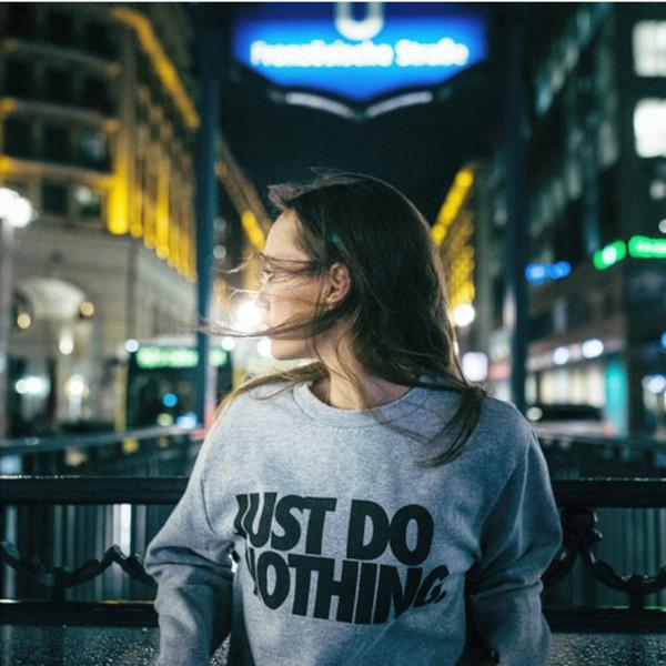 Just Do Nothing Pullover Sweatshirt - Iconic Trendz Boutique (1462564061227)