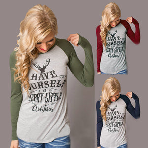Have yourself a Merry Christmas ugly sweater long sleeve raglan top tshirt (4352090112083)