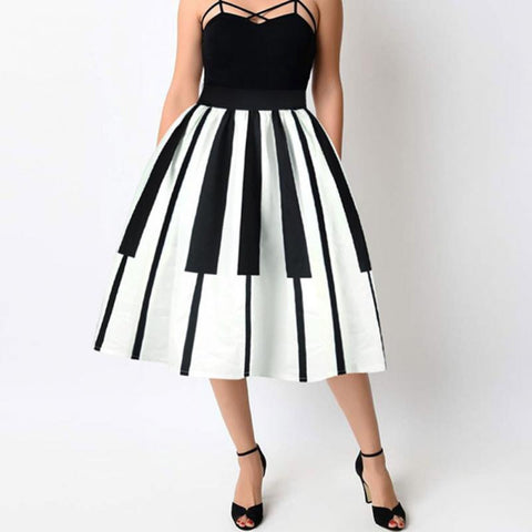 Piano vintage pin up skirt (1462464413739)