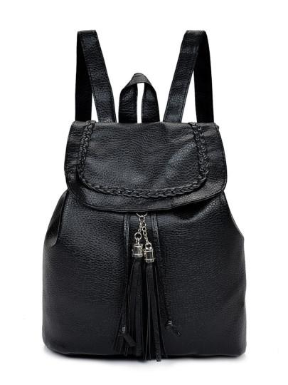 Tassel leather style fashion backpack