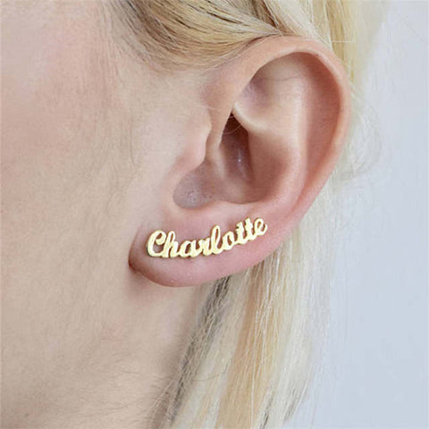 Luxury personalize custom name stud earrings jewelry gift for her (4358666256467)