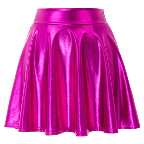 Barbie latex classic pleated skater mini skirt (2180162879531)