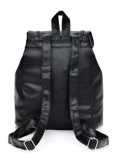 Tassel leather style fashion backpack (1462455468075)