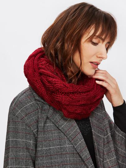 Crochet knitted double infinity scarf (1462518808619)