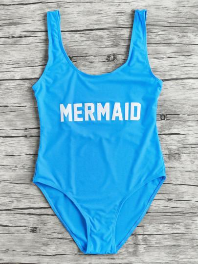 Mermaid one piece monokini bikini swimsuit (1462507864107)