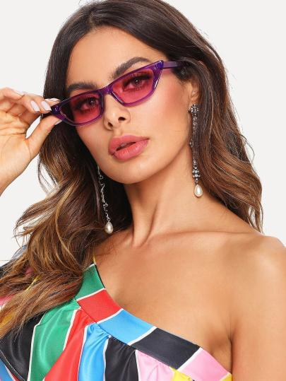 """Babe"" retro 90s cateye small frame sunglasses (1462473785387)"
