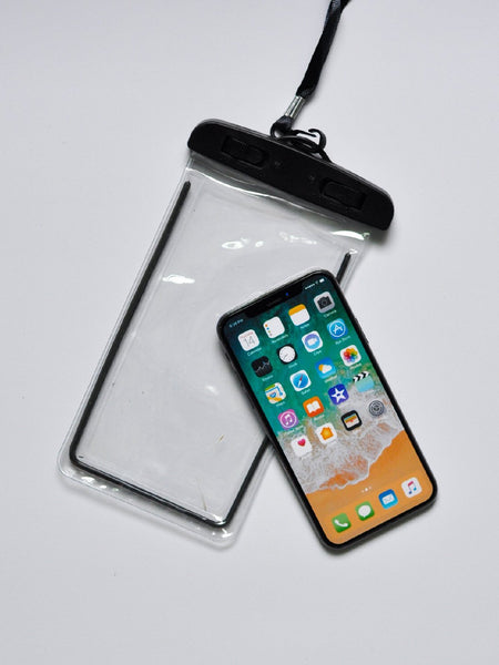 Clear waterproof phone pouch case