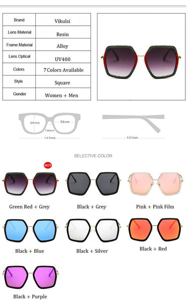 Diva Retro square oversize sunglasses (1462486794283)