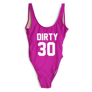 Dirty 30 one piece monoikini swimsuit (1462493151275)