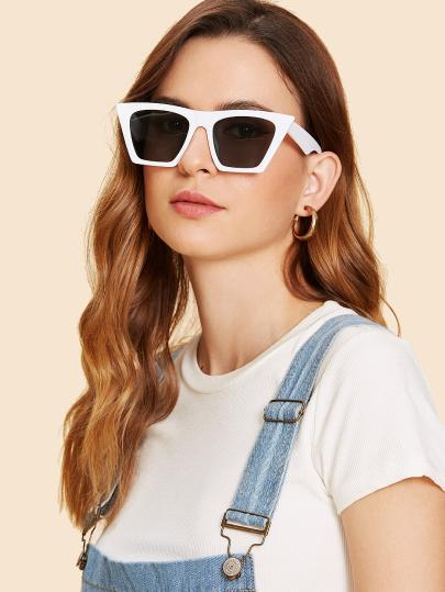 Square oversize color retro sunglasses (1462468935723)