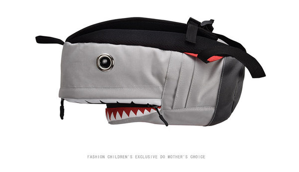fun 3d shark school bag backpack book bag (1842457772075)