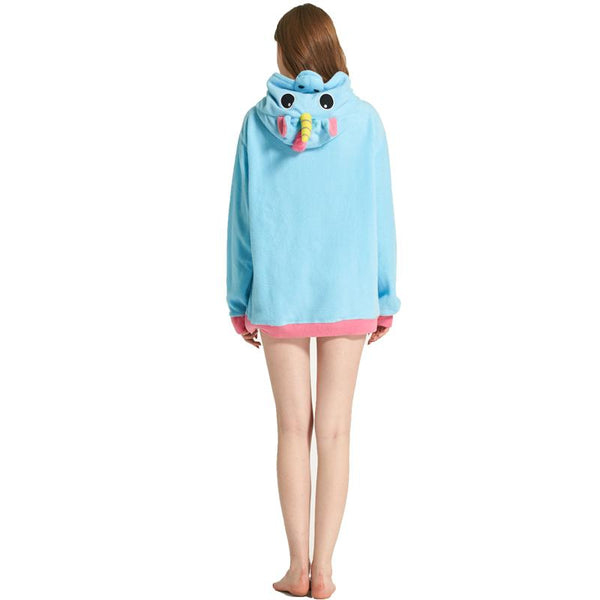 3D unicorn cartoon hoodie jacket (1462525853739)
