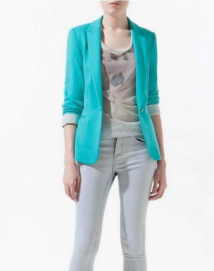 blue boyfriend cardigan fashion jacket (1462580772907)