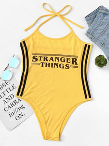 Stranger things bodysuit top
