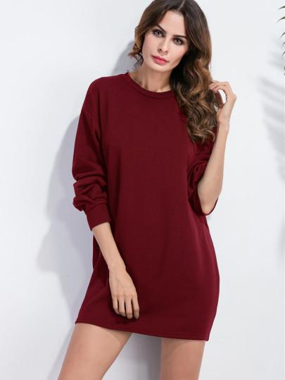 Casual drop sweater sporty dress (1462514253867)