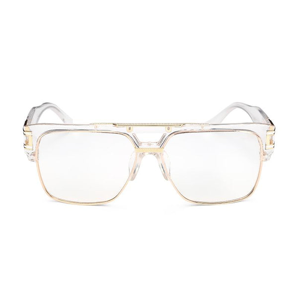 Retro luxury inspired oversize clear sunglasses (1462482599979)