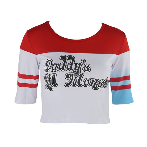 Daddy little monster Harley Quinn Halloween costume cosplay crop top shorts jacket (2179846012971)