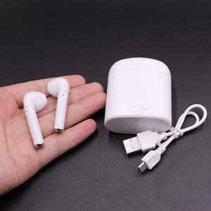 Wireless Bluetooth iPhone android AirPod headphones w charging case (1558998646827)