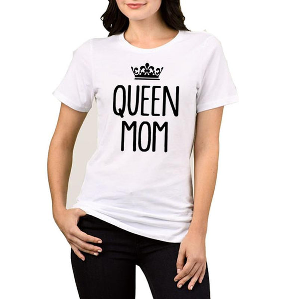 Queen mom crown printed tshirt