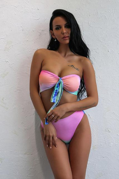 """Sweet Dreams"" 2 piece tie dye bikini swimsuit (1462474932267)"