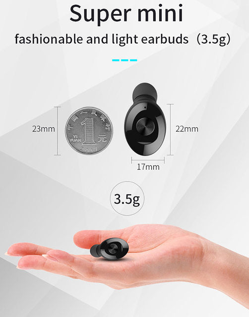 Bluetooth Wireless Earphone Earbuds Stereo Sport Headphone Waterproof Headset Android ios (4357851643987)