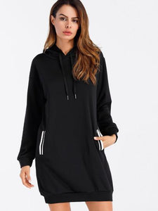 """Round da way"" Side pocket hoodie sweater dress"