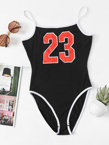 Number 23 one piece bodysuit