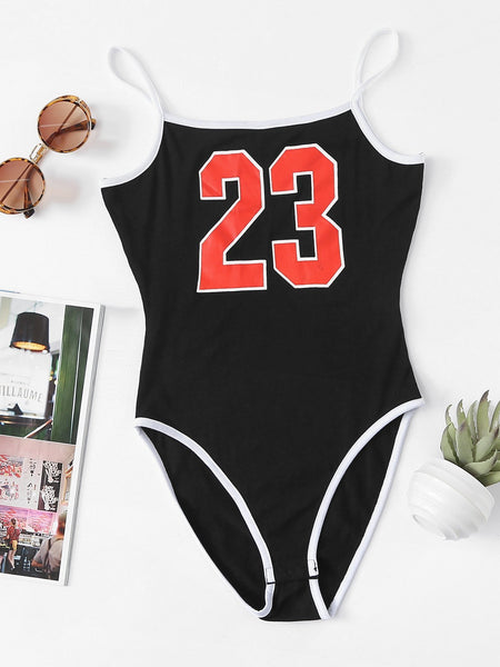 Number 23 one piece bodysuit (1462465167403)