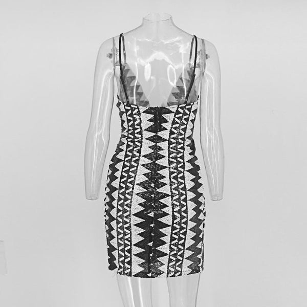 """Top Shot"" high split sequined dress (1462458679339)"