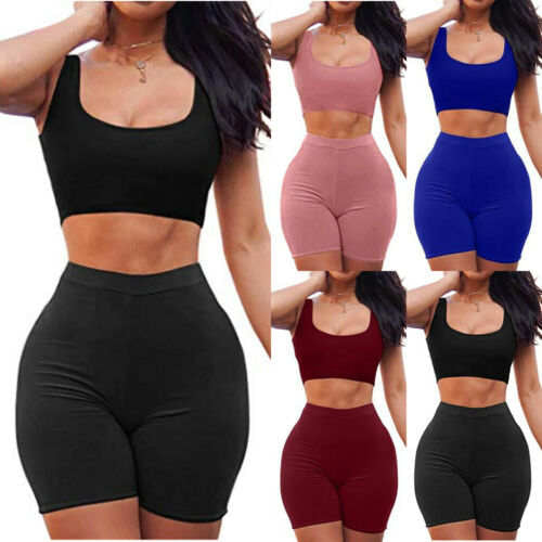 "Ladies ""Runtimes"" casual crop top shorts set"
