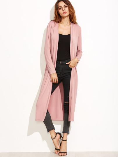 Long open front cardigan jacket (1462523953195)