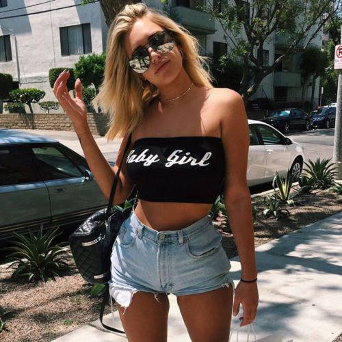 Baby girl letter tube crop top