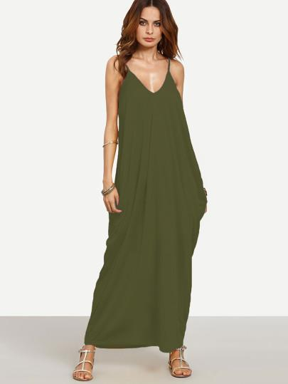 """Spring fling"" Classic side pocket loose fit maxi dress (1462480863275)"
