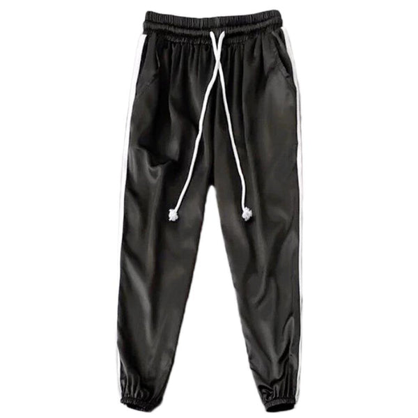 Old school satin side stripe joggers pants