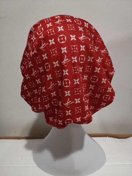 Luxury Designer Inspired Custom LV Fashion hair bonnet Scarf (4114398576683)