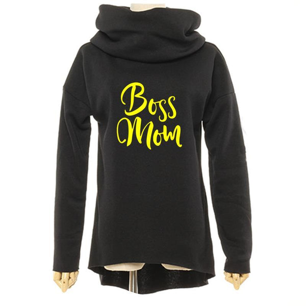 Boss mom oversize turtle neck sweater